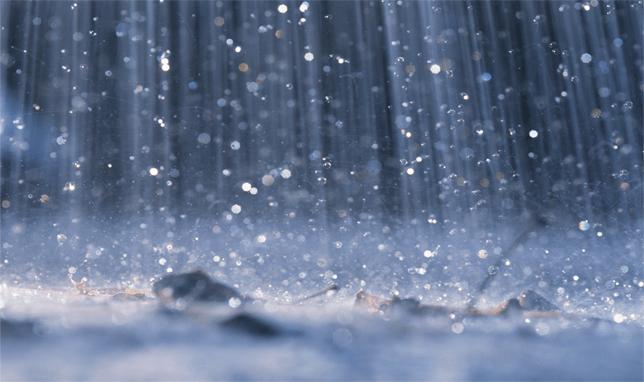 Atasco por lluvia